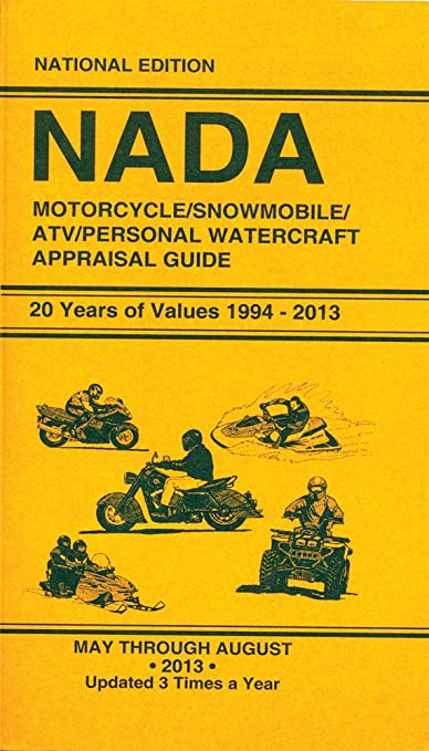 Nada Atv Values >> Amazon Com Nada Mc Snow Atv Pwc Book Nada Appraisal Guide
