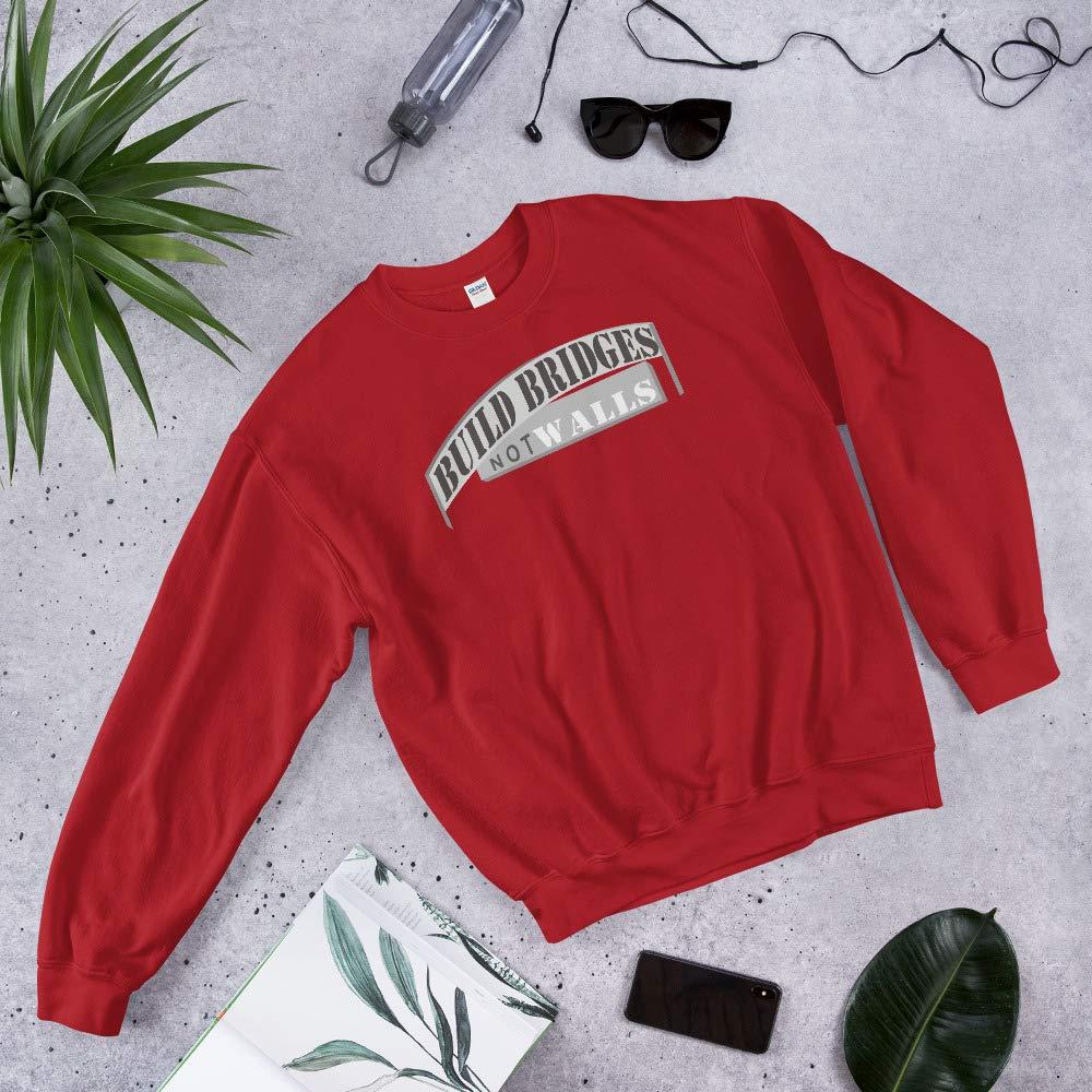 Unixex Sweatshirt Red STFND Build Bridges