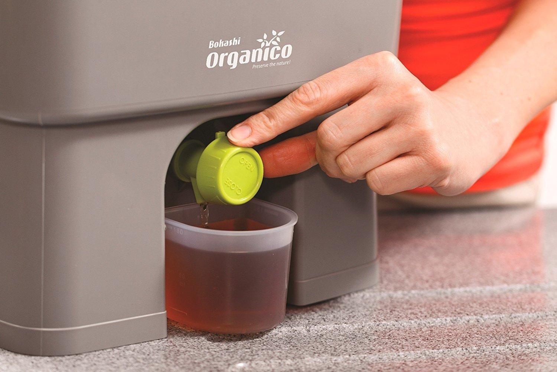 Skaza - mind your eco - Compostador para Cocina, Color Negro y Verde