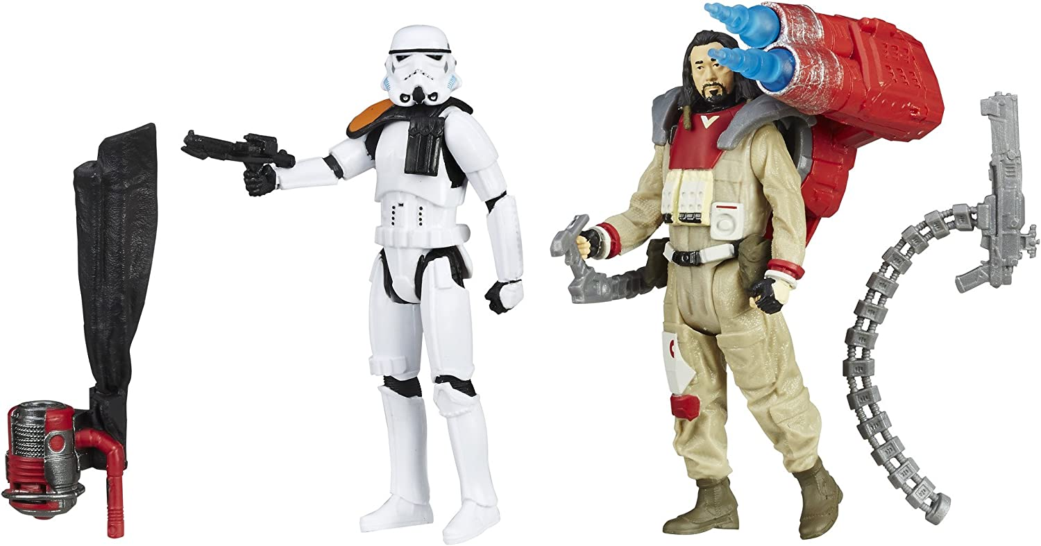 Star Wars B7260AS0 Rogue One Baze Malbus VS. Imperial Stormtrooper, 3.75-Inches