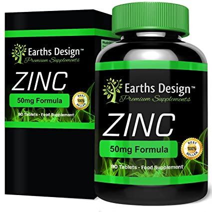 Zinc Suplemento Mineral - Gluconato de Zinc 50mg - 90 Pastillas (Suministro Para 3 Meses