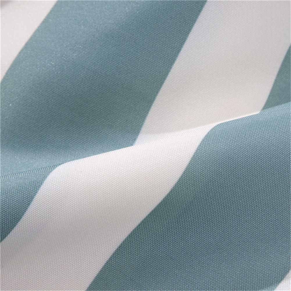 azul-1 lindong rayas degradado cortina de ducha Agua Resistente al lavado Bar antimoho para textil pl/ástico Incluye 12/anillos de cortina de ducha ba/ñera cortina 240/x 200/cm 180 * 180cm B*H