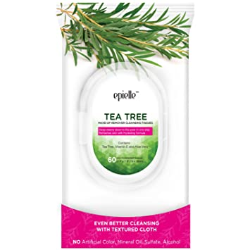 Epielle Tea Tree Make-Up Remover Cleansing Tissues, 60ct (4 pack) Peter Thomas Roth - Strawberry Scrub Fruit Enzyme Polisher - For Face & Body -250ml/8.4oz