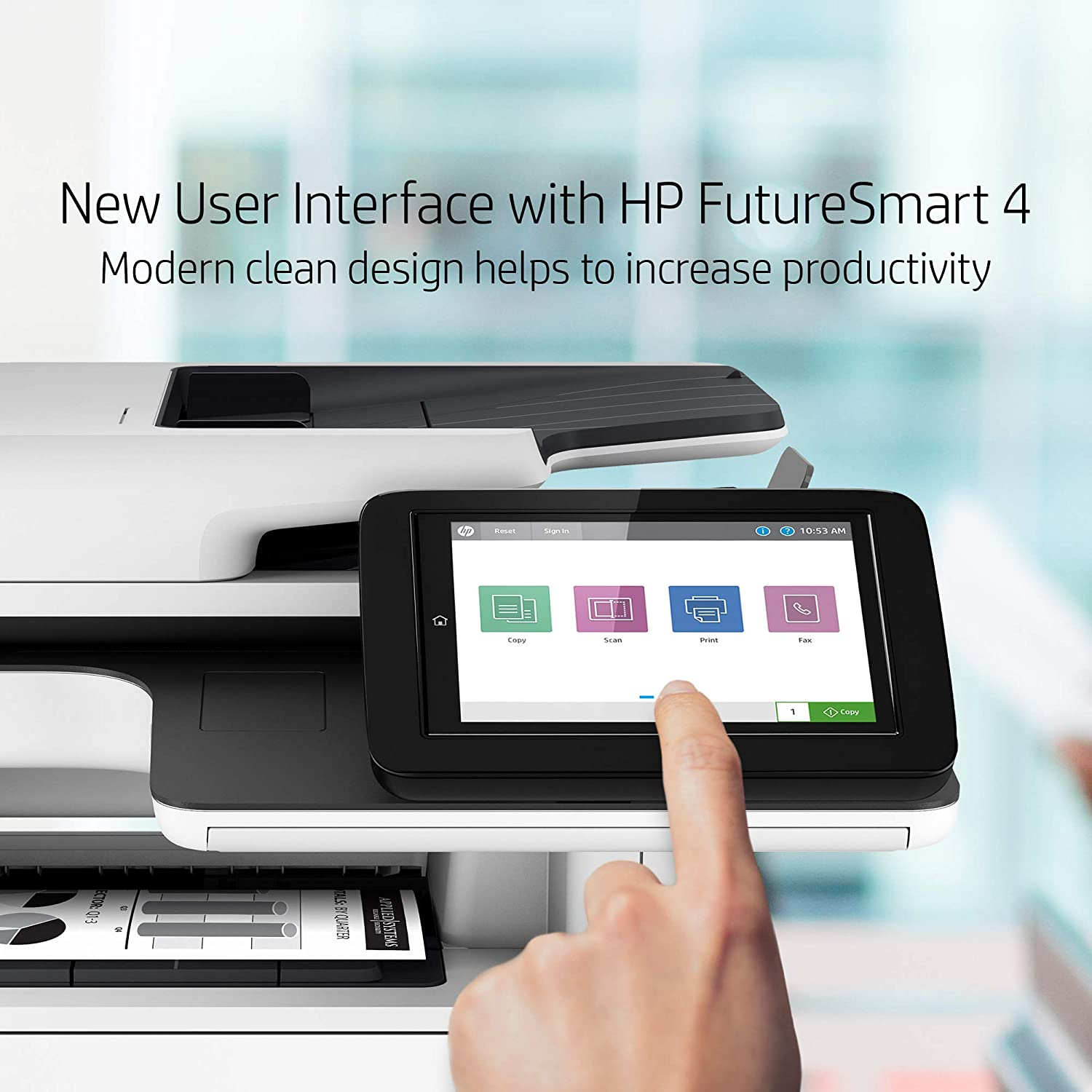 Onsite Warranty HP Laserjet Enterprise Multifunction M528dn with One-Year 1PV64A Next-Business Day