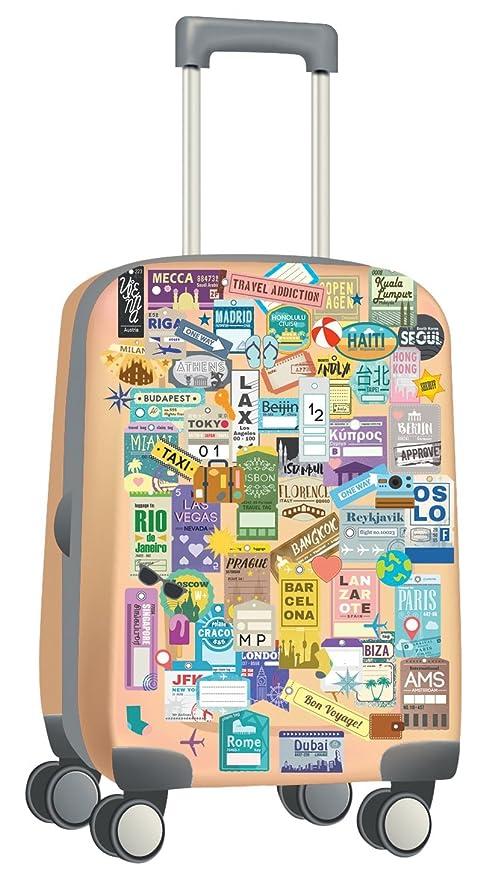 """Walplus """"Classic Etiquetas de Equipaje de Viaje Etiquetas de Equipaje Autoadhesivo extraíble Pegatinas de"""