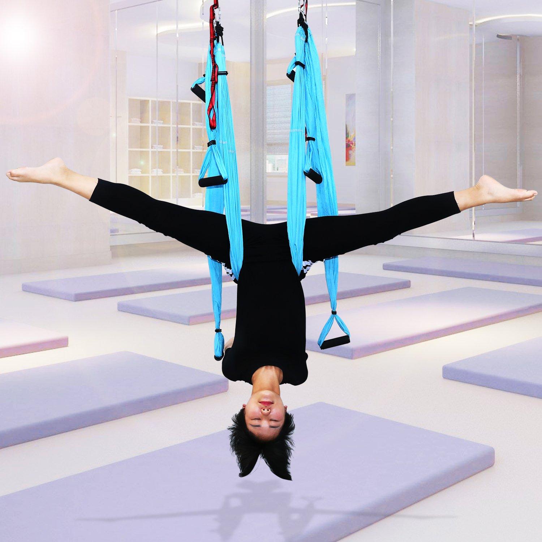 Outcamer Aerial Yoga Yoga Swing Hammock Trapeze Set For
