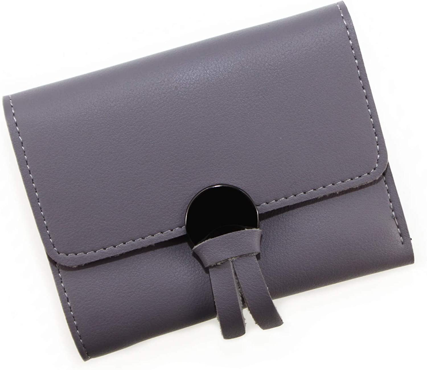Korean Style Fashion PU Leather Cute Knot Trifold Wallet Cash Coin Purse Card Holder for Girls /& Women