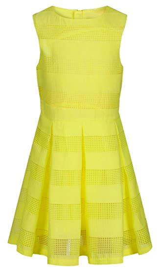 82d33e570311 Ex High Street Girl s Yellow Summer Dress Layered Pleated 100% Cotton Ages  2-13