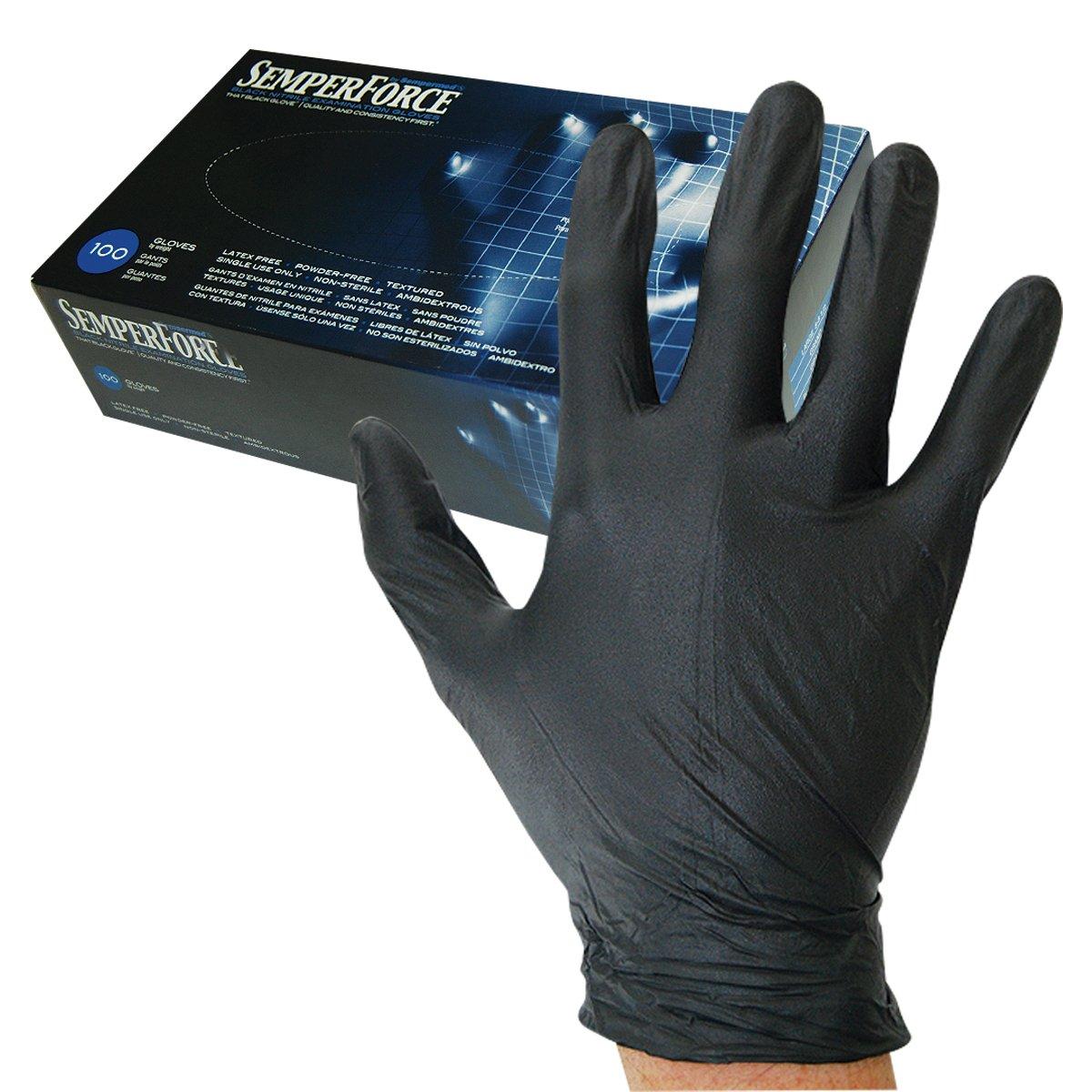 Sempermed Semperforce Black Nitrile Glove-XL-Box/100, X-Large