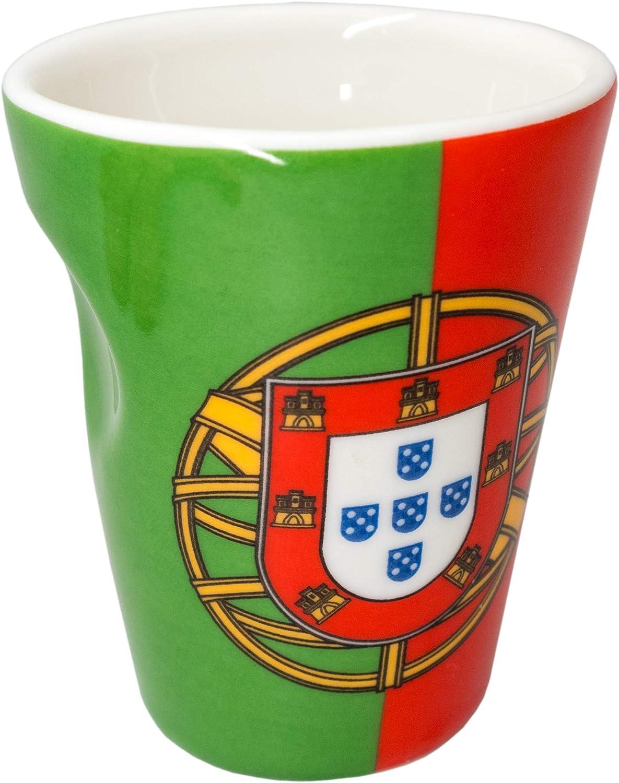 Taza de porcelana para expreso diseño bandera Portugal: Amazon.es: Hogar