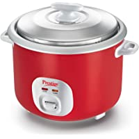 Prestige Cute 2.8-Litre Electric Rice Cooker (Red)