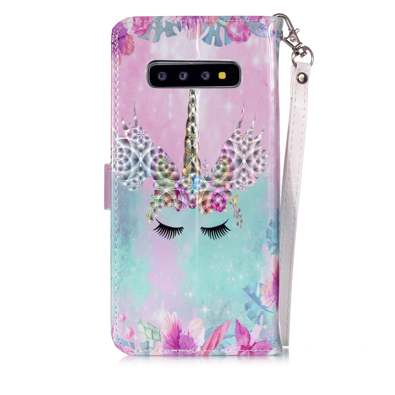 WIWJ Funda Samsung Galaxy S10 Plus Carcasa 3D Espejo Disney PU Piel Billetera Cuero Magn/ética Case Suave TPU Silicona M/óviles con Tapa 360 Grados Doble Libro Flip Stand Plegable Cover-Mandala