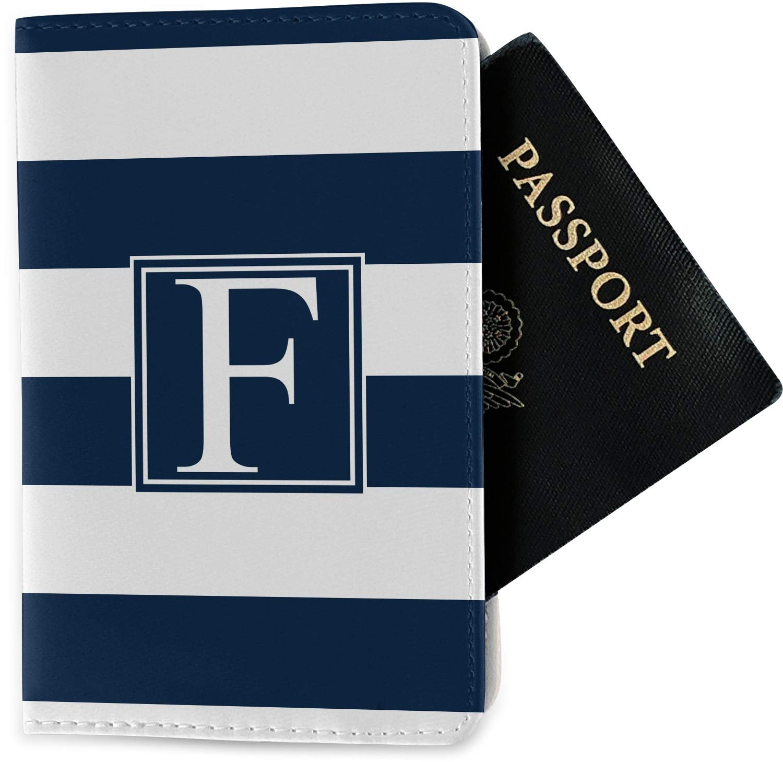 Fabric Personalized Horizontal Stripe Passport Holder