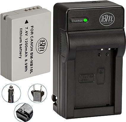 Cargador Pack Para CANON NB-10L PowerShot G15 G16 Cámara Batería x2 Dos Baterías