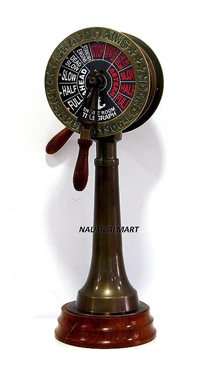Amazon com: NAUTICALMART Ship Engine Room Telegraph 24 inch Home
