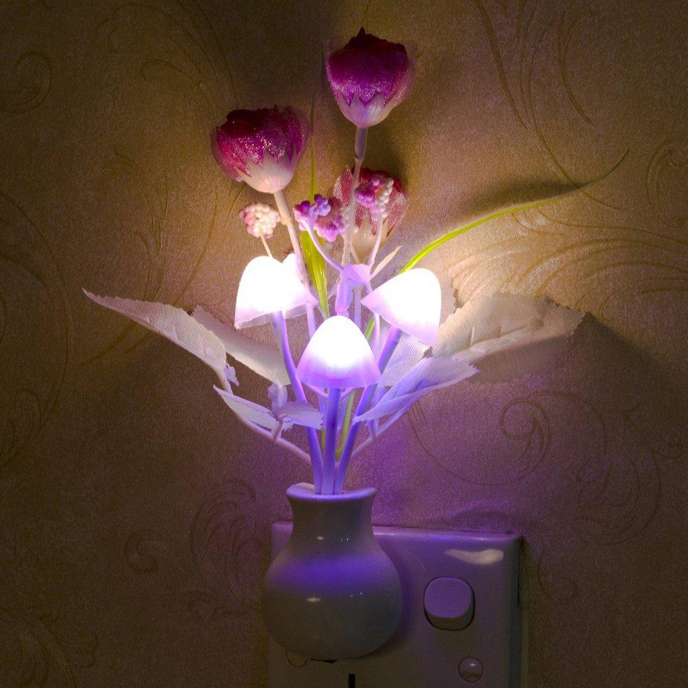 Gilroy Tulip Flower LED Night Light Soft Romantic Sensor Lamp for Home Decor by Gilroy (Image #3)