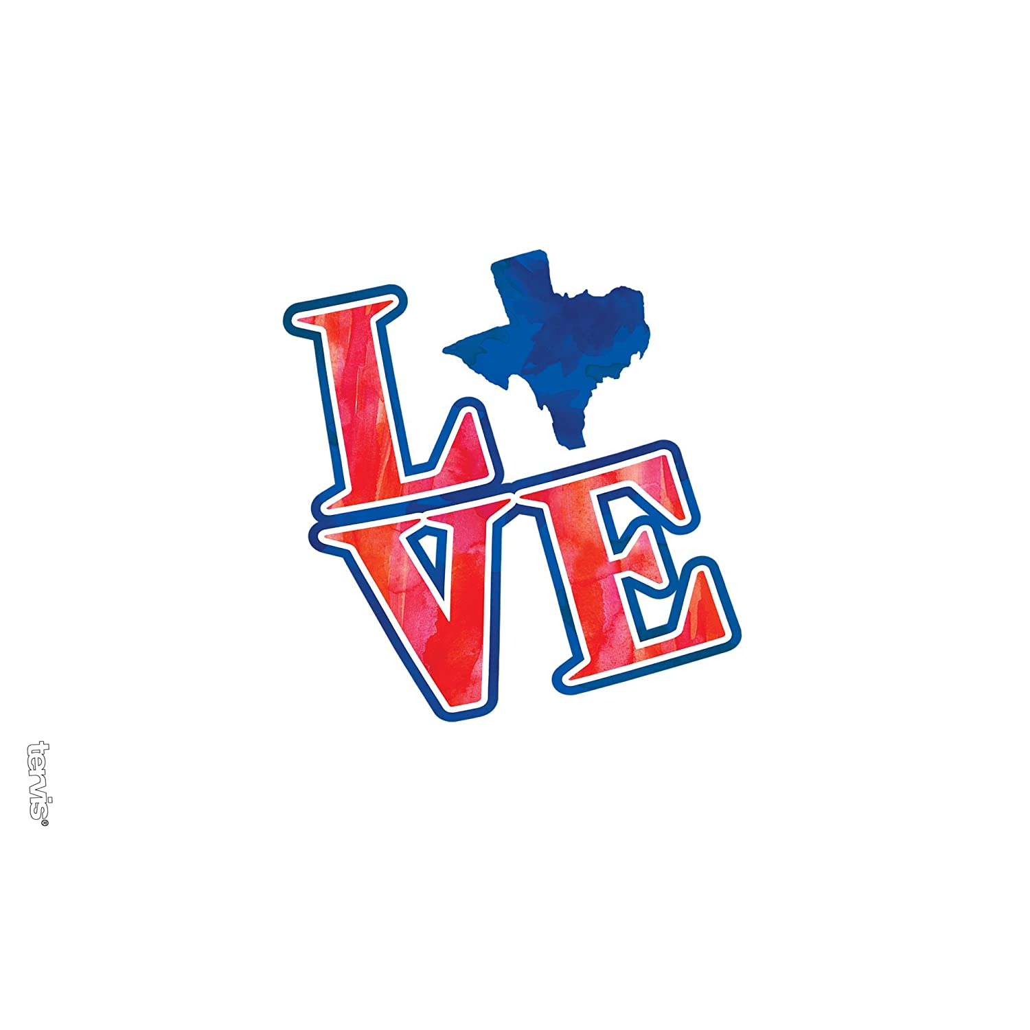 Love Texas/ Tumbler with Wrap and Navy Lid 16oz Clear Tervis 1247365 Texas