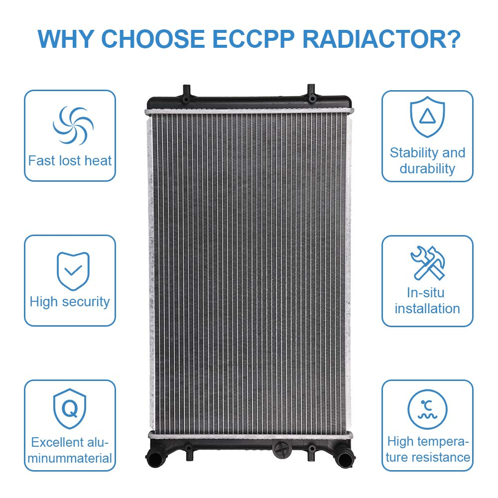 ECCPP Radiator CU2265 Replacement fit for Audi A3//TT Quattro Volkswagen Clasico//Golf//Jetta