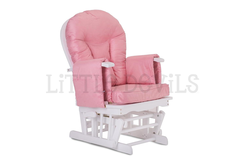 Sedia A Dondolo Per Allattamento Della Chicco : Little devils legno bianco rosa tessuto direct poltrona rocker