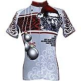Rosfajiama Women s Short Sleeve Cycling Jersey Jacket Moisture Wicking  Outdoors Sports Shirt Quick Dry Breathable Mountain 17b208ba5