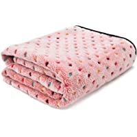 PAWZ Road Pet Dog Blanket Fleece Fabric Soft and Cute Pink M
