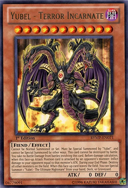 Yu-Gi-Oh! - Yubel - Terror Incarnate (RYMP-EN071) - Ra Yellow Mega-Pack - 1st...: Amazon.es: Juguetes y juegos