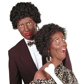 Peluca de rizos negra afro 80er negro peluca afro de carnaval años