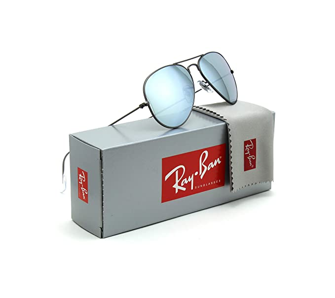 Amazon.com: Ray-Ban RB3025 Aviator Flash Lente anteojos De ...