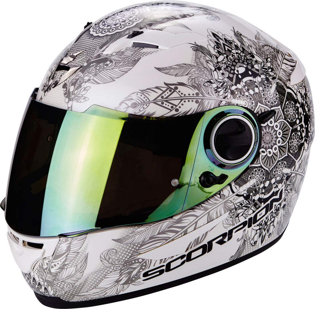 S SCORPION Casque moto EXO 490 Dream Blanc Cameleon Blanc//Noir
