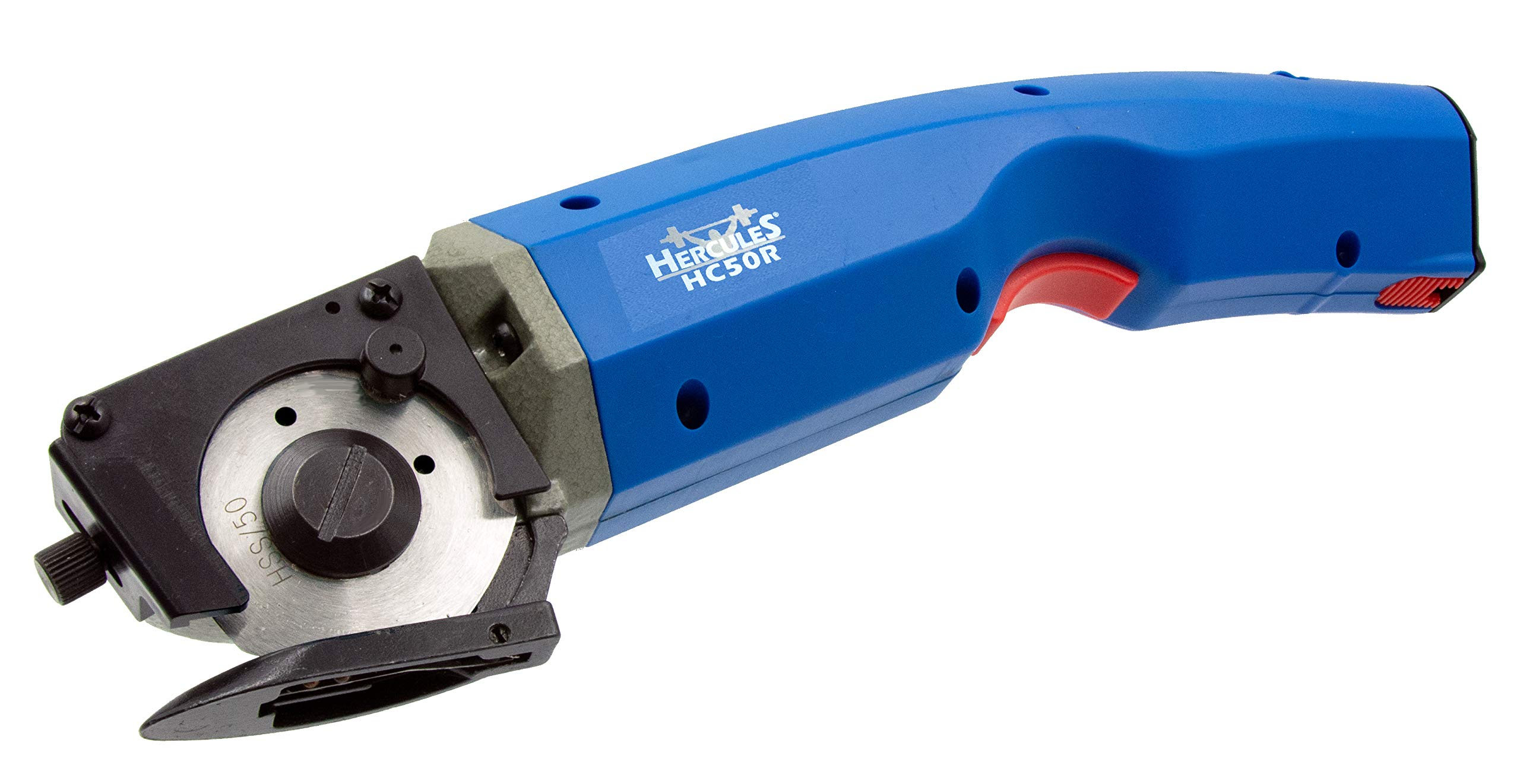 Hercules HC50R Electric Cordless Rotary Shear - Rechargeable, Multi-Layer Cutter for Light to Medium Weight Natural & Synthetic Fabrics by HERCULES