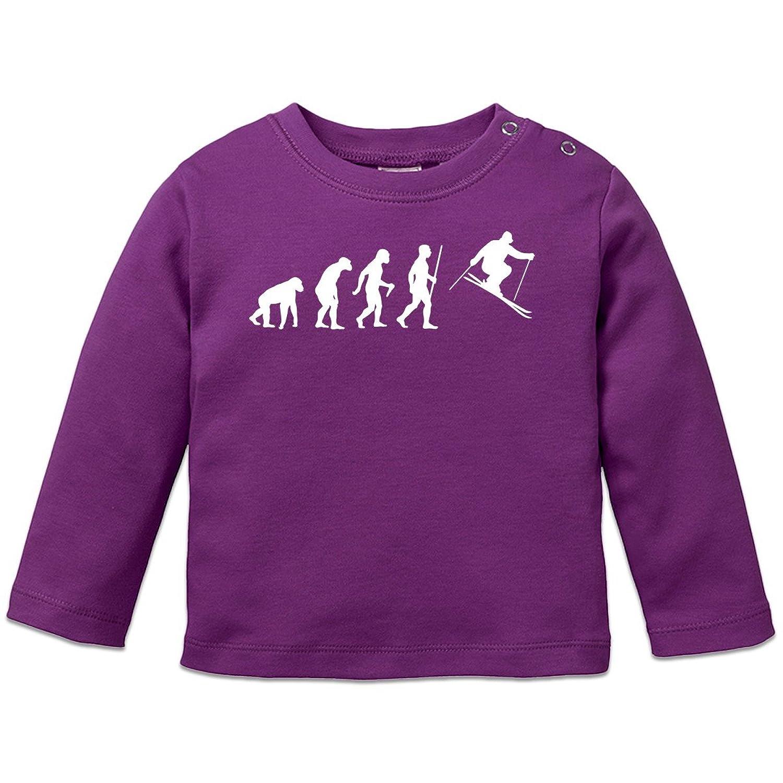 Ski Evolution Humor Baby Langarmshirt by Shirtcity