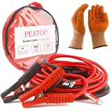 Jumper Cables Heavy Duty 4 Gauge 900 AMP 20ft Copper Jaw with Carry Bag Safety Gloves (4AWG x 20FT booster cable) by PEATOP