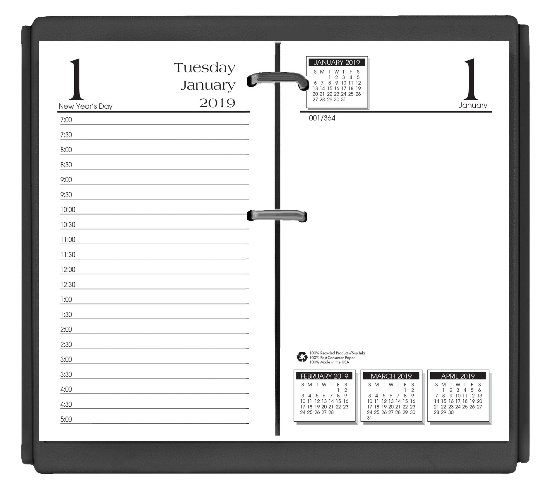 House of Doolittle 2019 Desk Calendar Refill, Daily, Economy, Fits #17 Base, 3.5 x 6 Inches, January - December (HOD4717-19)