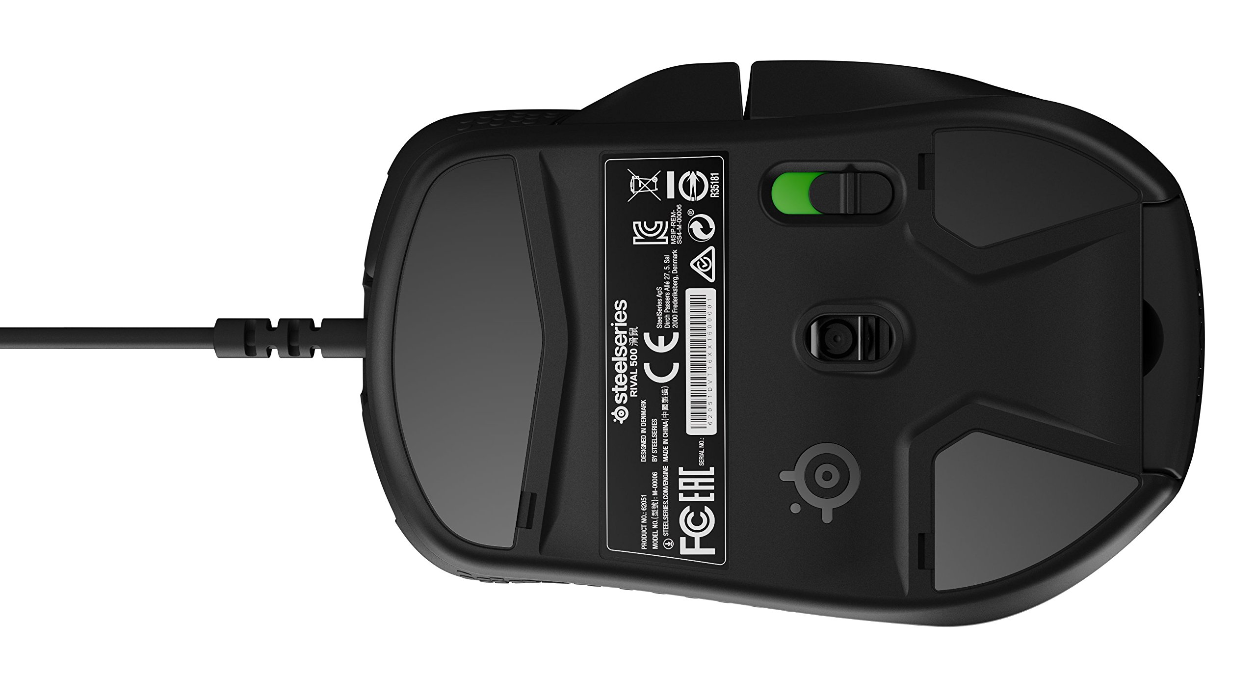 SteelSeries Rival 500 MMO/MOBA 15-Button Programmable Gaming Mouse - 16,000 CPI by SteelSeries (Image #5)