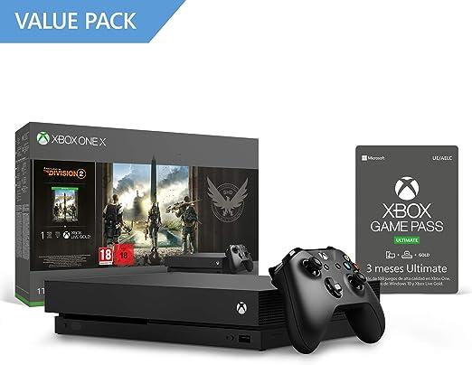 Xbox One X Consola 1 TB + División 2 + 3 Meses | Xbox Game Pass ...