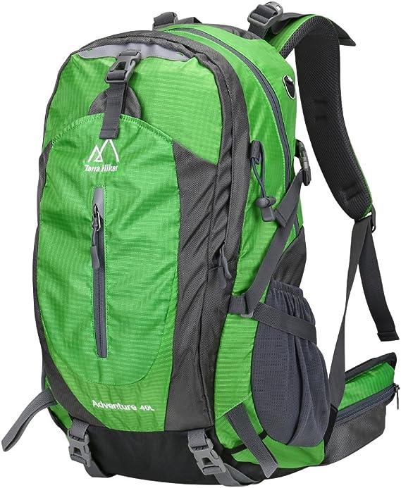 Terra Hiker 40L Mochila de Senderismo con Marco Extraíble Mochila de Trekking para Escalada Alpinismo y Acampada