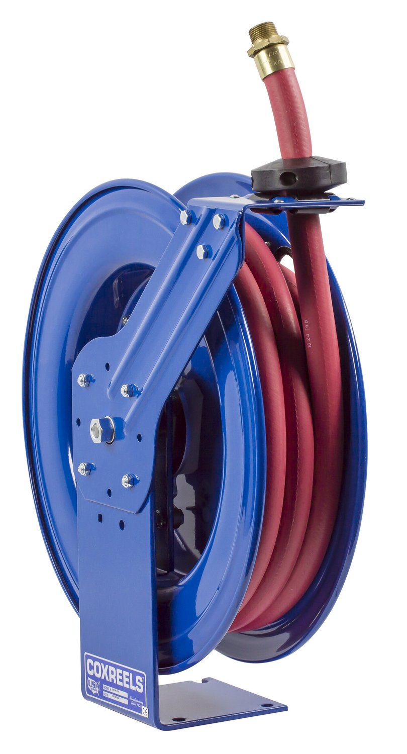 Coxreels SHF-N-525 Fuel reel, Single pedestal hose reel with Super Hub, spring driven. 3/4'' x 25' 300 PSI