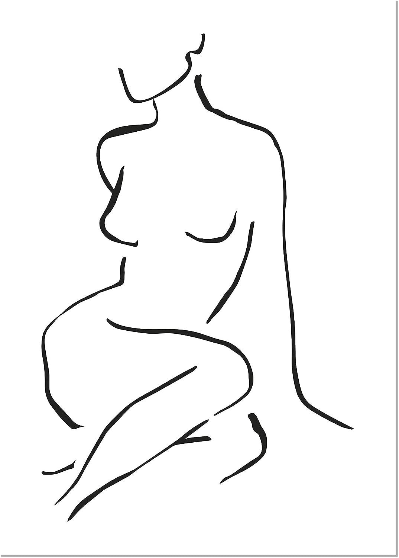 Panorama Póster Silueta Mujer Frontal 50x70cm - Impreso en Papel 250gr | Póster Pared | Láminas para Enmarcar | Cuadros Decoración Salón | Pósters Decorativos | Cuadros Modernos