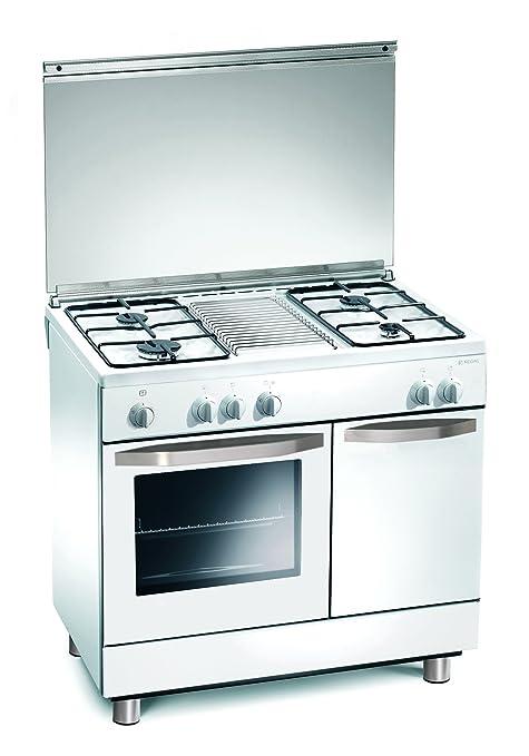 Cocina Gas 90x60x85 cm 4 quemadores blanco con horno a gas - Regal ...