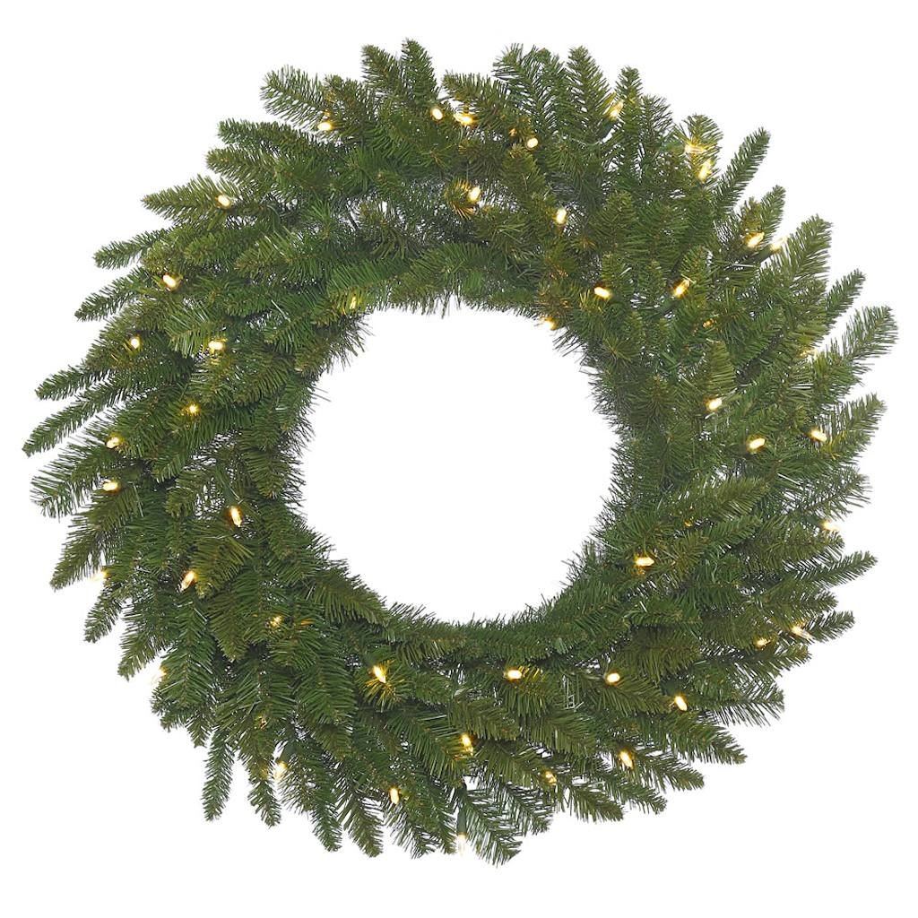 Vickerman Durango Spruce Artificial Wreath with 200 Warm White LED Lights, 48''