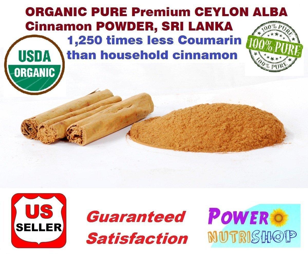 1 LB(16oz) CEYLON ALBA GRADE Cinnamon Powder 100% ORGANIC PURE Premium CEYLON ALBA GRADE Cinnamon Powder, SRI LANKA by PowerNutri Shop