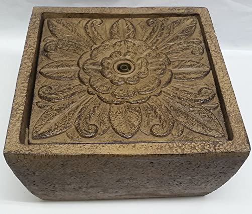 Tavolo Floral Square Tabletop Fountain by Ellen DeGeneres, Brown Rust