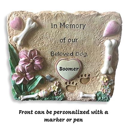 amazon com banberry designs pet memorial garden stone in memory