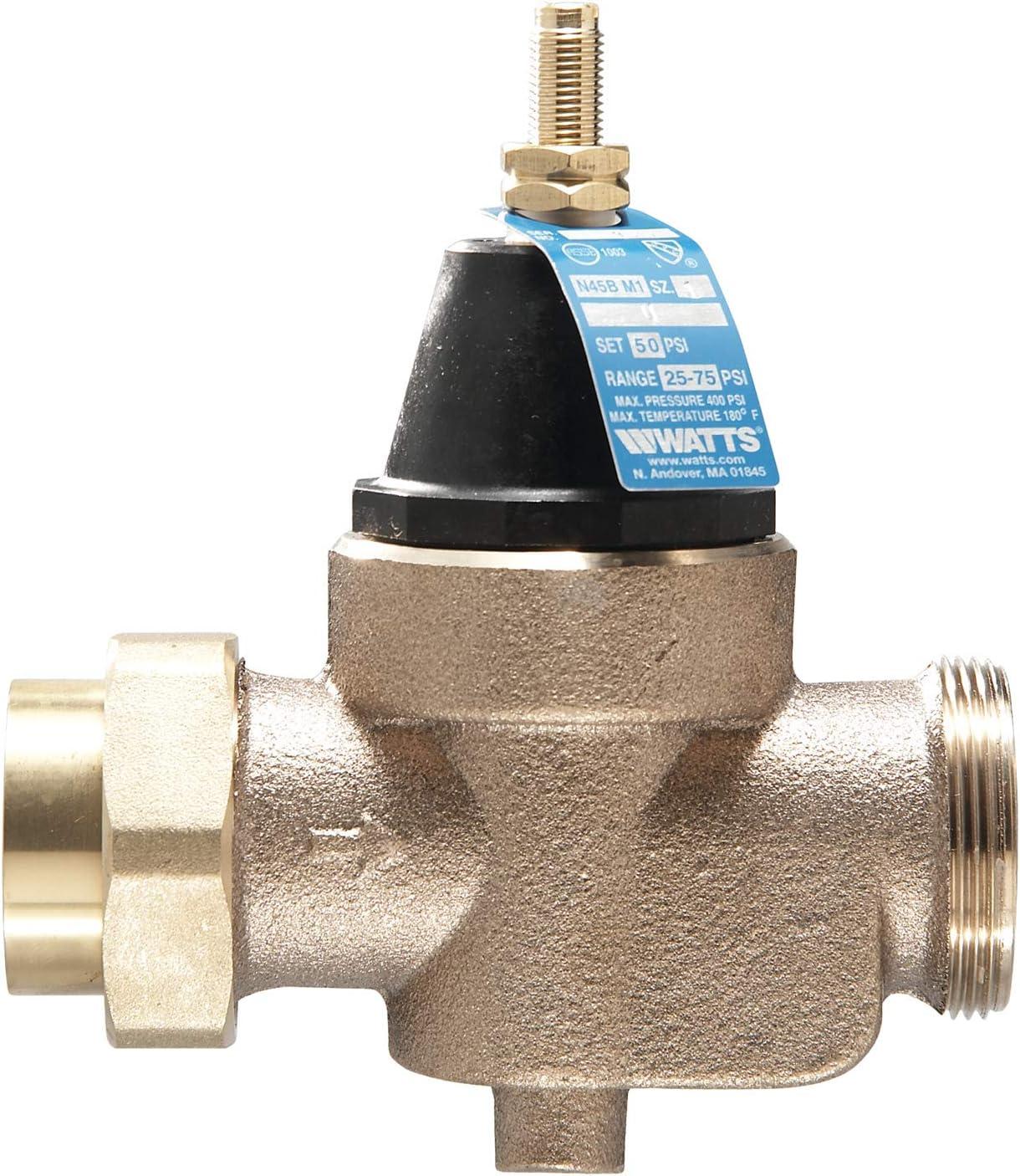 """Watts Water Technologies 1 LFN45BM1-U 1"""", Standard Capacity, Lead Free, Water Pressure Reducing Valve"""