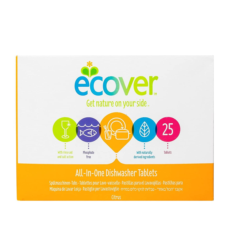 ECOVER - TODO EN UNO TABLETAS DE LAVAVAJILLAS 25un. -ECOVER ...