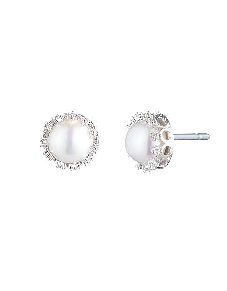 Amazon.com: Carolee - Pendientes de perla con filigrana en C ...