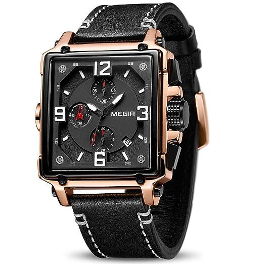 c441636f2244 Megir - Reloj de Pulsera de Cuarzo para Hombre