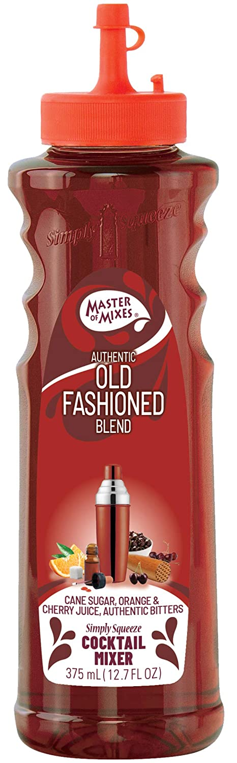Master of Mixes Cocktail Essentials Old Fashioned, 375 ML Bottle (12.7 Fl Oz), Individually Boxed