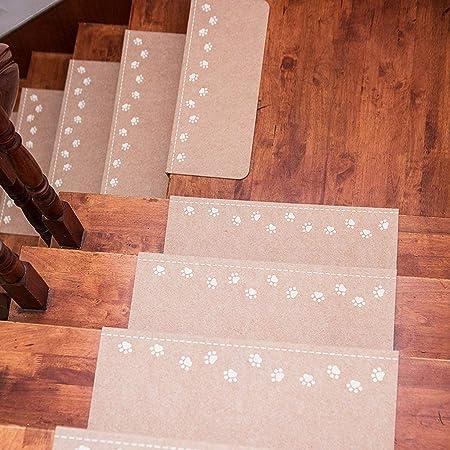 Estilo Moderno Simple Resplandor De La Noche Huellas De Alfombra De La Escalera/Antideslizante Estera De La Escalera, De Seguridad Rugs Escaleras- Conveniente For Interior Y Exterior: Amazon.es: Hogar