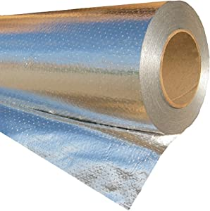 RadiantGUARD Ultima Radiant Barrier Industrial 1000 sq ft roll | 48-inch by 250-feet | U-1000-B | Perforated Breathable Aluminum Attic Foil House Wrap Reflective Insulation – Blocks 97% of Heat